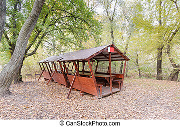 Picnic Shelter in the Woods