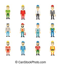 Professional workman set. Vector icons - Professional...