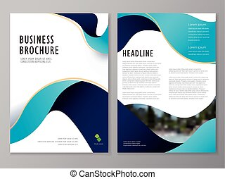 brochure and flyer template design - Brochure, flyer and...