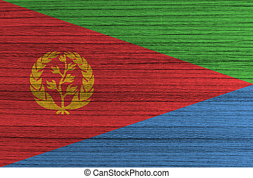 Eritrea Flag on wood background