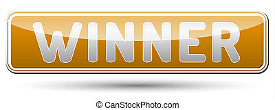 WINNER - glossy banner with shadow