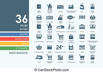 Set of store icons - store vector set of modern simple icons