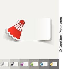 realistic design element. shuttlecock - shuttlecock paper...