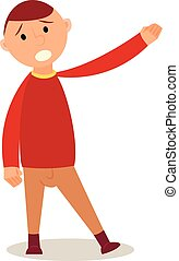 Student Kid isolated on white background in cartoon style