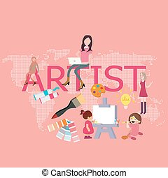 artist drawing since kids become graphic designer painting...