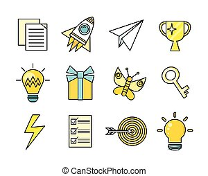Idea Generation Icon Set