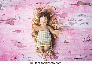 Child Jesus Christmas card - Baby Jesus Christmas card, cute...