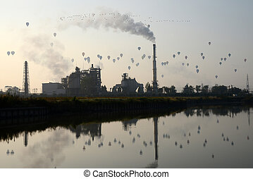 Hot air balloons - Many hot air balloons in the sky