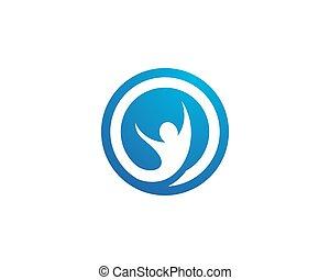 Healthy Life Logo - Fun people Healthy Life icon Logo...