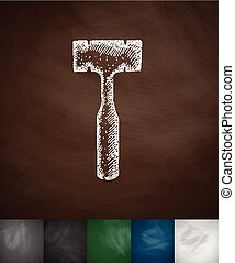 orthopedic hammer icon. Hand drawn vector illustration....