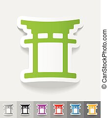 realistic design element. japanese arch - japanese arch...