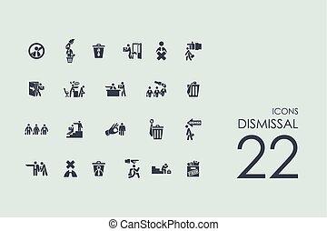 Set of dismissal icons - dismissal vector set of modern...