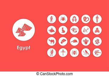 Set of Egypt simple icons - It is a set of Egypt simple web...