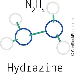 N2h4 Molecule Hydrazine Images and S...