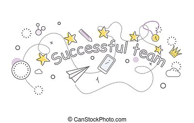 Successful Team Banner. Indispensable Things. - Successful...