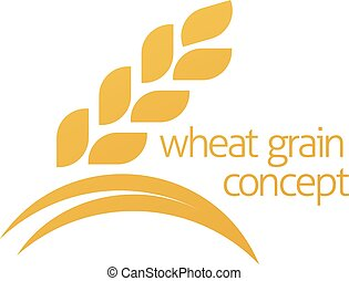 Wheat Corn Grain Icon Concept - A conceptual illustration of...