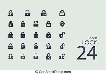 Set of lock icons - lock vector set of modern simple icons