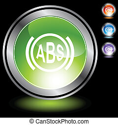 Antilock Braking System web button isolated on a background.
