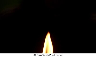 the candle flame in the dark - HD 1080p - Candle in high...