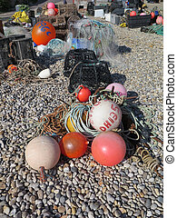 Lobster pots and fishing gear - Fishing tackel on Beer...