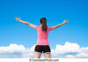 sport woman feel free