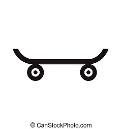 Skateboard icon illustration design