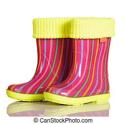 Children rubber boots with fabric inset for walking...
