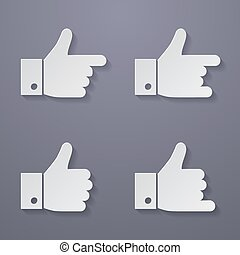 Thumbs up icon set.