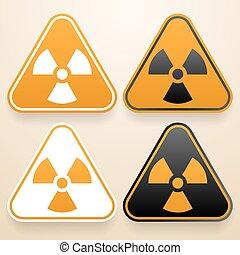Set of triangular signs