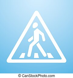 Crosswalk sign - Vector illustration of Crosswalk sign. Eps...