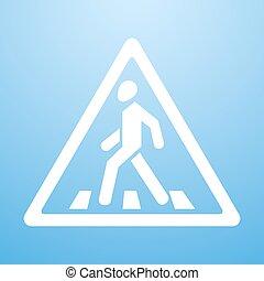 Crosswalk sign - Vector illustration of Crosswalk sign. Eps...