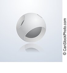 Abstract 3d sphere.