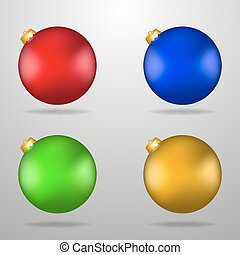 Colorful Christmas toys. Vector Illustration Eps 10