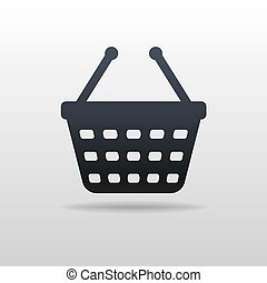 Icon of shopping cart. Vector Illustration Eps 10