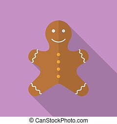 Icon of Christmas Gingerbread. Flat style