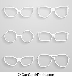 Set of paper sunglasses