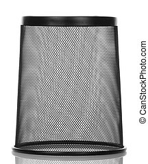 Empty the waste basket isolated on white background. View...