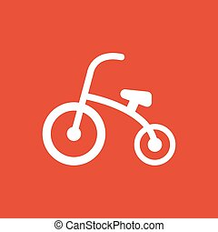 Tricycle icon. design. Bike, bicycle, Tricycle symbol. web....