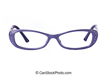Modern fashionable spectacles isolated on white background,...