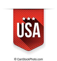USA red ribbon vector