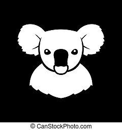 Koala Bear Sign Logo. Vector - Koala Bear Sign Logo. Coala....