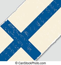 Finnish grunge flag. Vector illustration. - Finnish grunge...