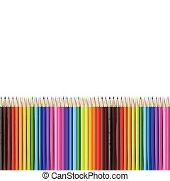 Abstract backgroud color pencil on white background with vector illustration 001