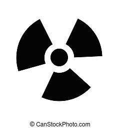 Ionizing radiation icon illustration idesign