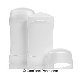Dry deodorant for armpits isolated on white. - Dry deodorant...