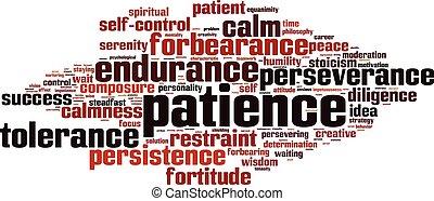 Patience word cloud - horizon