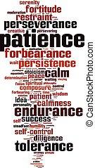 Patience word cloud - vertical