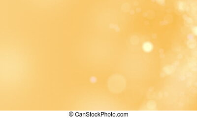 Yellow motion background. Abstract glowing bokeh circles or sparks. 8K seamless loop clip