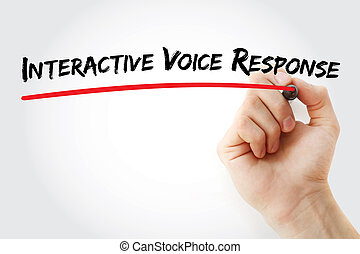 Hand writing Interactive Voice Response with marker, concept...