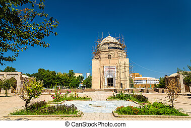 View of Rukhabad Mausoleum in Samarkand, Uzbekistan